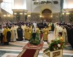 Предстоятель Русской Церкви совершил Литургию в кафедральном соборе Калининграда