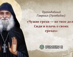 «Главное – это стремление к Богу»<br/>Преподобный Гавриил (Ургебадзе) и его изречения