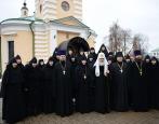 Святейший Патриарх Кирилл совершил освящение Троицкого собора Борисоглебского Аносина монастыря