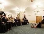 Святейший Патриарх Кирилл встретился с представителями Молодежной общественной палаты и Палаты молодых законодателей при Совете Федерации