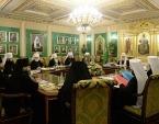 Под председательством Святейшего Патриарха Кирилла началось заседание Священного Синода