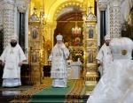 В Рождественский сочельник Святейший Патриарх Кирилл совершил Литургию святителя Василия Великого в Храме Христа Спасителя в Москве