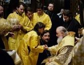 Святейший Патриарх Кирилл совершил всенощное бдение в Крестовоздвиженском соборе Женевы