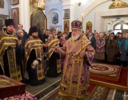 В канун Недели 2-й Великого поста Патриарший Экзарх совершил всенощное бдение в Свято-Духовом кафедральном соборе города Минска
