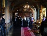 Во вторник первой седмицы Великого поста Святейший Патриарх Кирилл молился за уставным богослужением в Новоспасском ставропигиальном монастыре