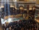 В праздник Торжества Православия Святейший Патриарх Кирилл совершил Литургию в Храме Христа Спасителя