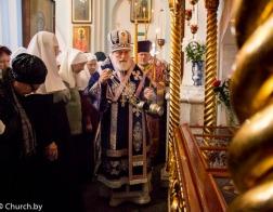 В канун дня памяти праведной Софии Слуцкой митрополит Павел совершил всенощное бдение в Свято-Духовом кафедральном соборе города Минска