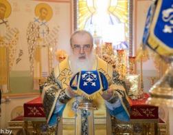 В праздник Благовещения Пресвятой Богородицы митрополит Филарет совершил Литургию в домовом храме Минского епархиального управления