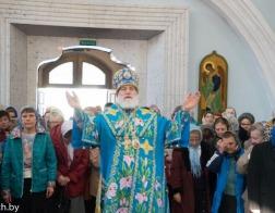 В праздник Благовещения Пресвятой Богородицы митрополит Павел совершил Литургию в Свято-Духовом кафедральном соборе города Минска