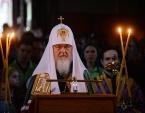 В канун Великого Четверга Святейший Патриарх Кирилл принял участие в вечернем богослужении в Алексеевском ставропигиальном монастыре