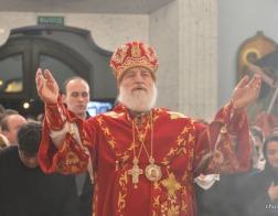 Патриарший Экзарх совершил торжественное Пасхальное богослужение в Свято-Духовом кафедральном соборе города Минска