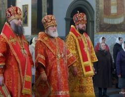 Во вторник Светлой седмицы Патриарший Экзарх возглавил Литургию в Успенском Жировичском ставропигиальном мужском монастыре