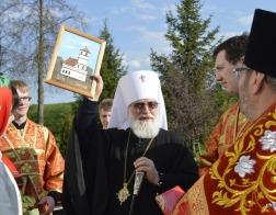 В канун Антипасхи митрополит Павел совершил всенощное бдение в Преображенском кафедральном соборе города Заславля