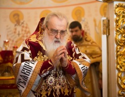 В день Антипасхи митрополит Филарет возглавил Литургию в домовом храме Минского епархиального управления
