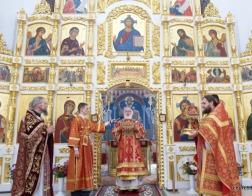 В субботу 2-й седмицы по Пасхе митрополит Павел совершил Литургию в храме в честь святой праведной Софии Слуцкой города Минска