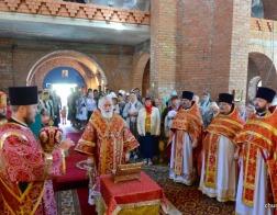 Митрополит Павел совершил Литургию в Вознесенском храме агрогородка Ждановичи