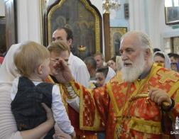 В канун Недели 6-й по Пасхе митрополит Павел совершил всенощное бдение в Свято-Духовом кафедральном соборе города Минска