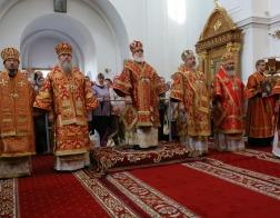 Патриарший Экзарх возглавил торжества в честь дня памяти преподобной Евфросинии, игумении Полоцкой