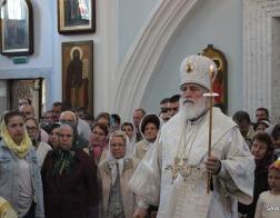 В канун праздника Вознесения Господня Патриарший Экзарх совершил всенощное бдение в Свято-Духовом кафедральном соборе города Минска