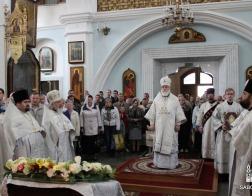 В праздник Вознесения Господня митрополит Павел возглавил Литургию в Свято-Духовом кафедральном соборе города Минска