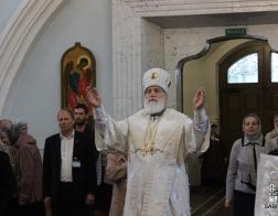 В Неделю 7-ю по Пасхе Патриарший Экзарх совершил Литургию в Свято-Духовом кафедральном соборе города Минска
