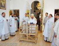 Архиепископ Артемий освятил престол и совершил литургию в храме Собора Белорусских Святых деревни Верейки