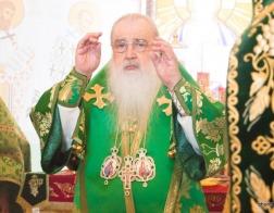 В праздник Пятидесятницы митрополит Филарет возглавил Литургию в домовом храме Минского епархиального управления