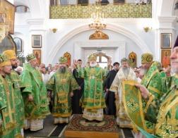 В праздник Святого Духа митрополит Павел возглавил Литургию в Свято-Духовом кафедральном соборе города Минска