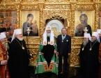 Предстоятель Русской Церкви совершил вечернее богослужение в Успенском Георгиевском монастыре в Башкирии