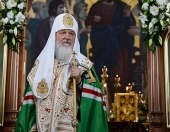 Святейший Патриарх Кирилл совершил молебен в Михаило-Архангельском храме Троицкого монастыря г. Бирска