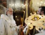 В канун праздника Вознесения Господня Святейший Патриарх Кирилл совершил всенощное бдение в Храме Христа Спасителя г. Москвы