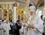 В праздник Вознесения Господня Предстоятель Русской Церкви совершил Литургию в московском храме «Большое Вознесение» у Никитских ворот