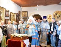Митрополит Павел совершил Литургию в храме в честь иконы Божией Матери «Владимирская» в городе Минске