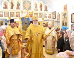 В праздник Рождества святого Иоанна Крестителя митрополит Павел совершил Литургию в Иоанно-Предтеченском приходе города Минска