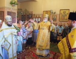 В день памяти равноапостольной великой княгини Ольги Патриарший Экзарх совершил Литургию в храме в честь святой Ольги города Минска