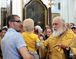 В канун Недели 6-й по Пятидесятнице митрополит Павел совершил всенощное бдение в Свято-Духовом кафедральном соборе города Минска