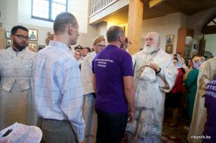 В канун праздника Преображения Господня митрополит Павел совершил всенощное бдение в Преображенском кафедральном соборе города Заславля