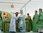 Предстоятель Русской Церкви совершил Литургию в Дивеевском монастыре