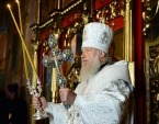 В праздник Преображения Господня Святейший Патриарх Кирилл совершил Литургию в Никольском кафедральном соборе г. Мурманска