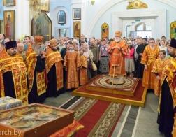 В канун праздника Усекновения главы Иоанна Предтечи митрополит Павел совершил всенощное бдение в Свято-Духовом кафедральном соборе города Минска