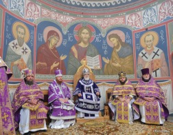 В праздник Воздвижения Креста Господня Патриарший Экзарх совершил Литургию в Полоцком Спасо-Евфросиниевском монастыре