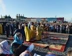 Святейший Патриарх Кирилл заложил храм в самом северном городе России