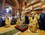 Предстоятель Русской Церкви совершил Литургию в Троицком соборе г. Анадыря