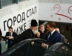 Святейший Патриарх Кирилл стал одним из первых пассажиров Московского центрального кольца