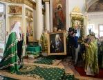 В день памяти свв. блгвв. кнн. Даниила Московского и Александра Невского Святейший Патриарх Кирилл совершил Литургию в Даниловом ставропигиальном монастыре