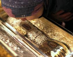 В Свято-Духовом кафедральном соборе города Минска состоялась встреча ковчега с десницей великомученика Димитрия Солунского