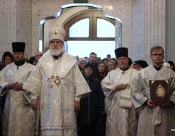 В Димитриевскую родительскую субботу митрополит Павел совершил Литургию в Свято-Духовом кафедральном соборе города Минска