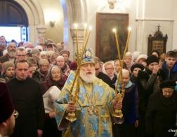 В день памяти иконы Божией Матери «Всех скорбящих Радость» Патриарший Экзарх совершил Литургию в Скорбященском приходе города Минска