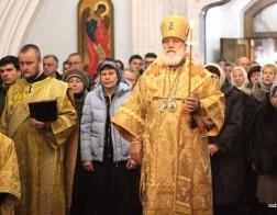 В канун Недели 21-й по Пятидесятнице Патриарший Экзарх совершил всенощное бдение в Свято-Духовом кафедральном соборе города Минска
