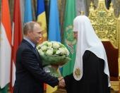Президент Российской Федерации В.В. Путин поздравил Святейшего Патриарха Кирилла с 70-летием